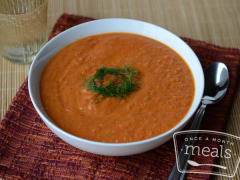Roasted Tomato and Fennel Soup - Lunch Version