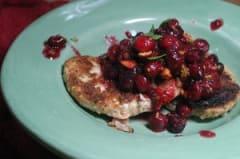 Vegan Pistachio-Cranberry Chicken