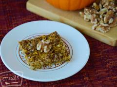Vegan Pumpkin Walnut Oatmeal Bars