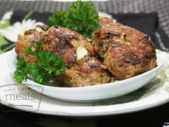 Paleo Zucchini Chicken Fritters - Lunch Version