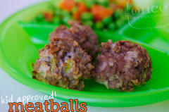 Kid Approved Meatballs - Lunch Version
