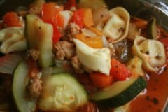 Italian Sausage Tortellini Soup - Lunch Version