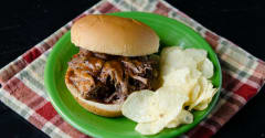 Slow Cooker BBQ Beef Sandwiches - Lunch