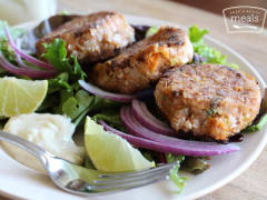 Coconut Crusted Tuna Cakes - Lunch Version