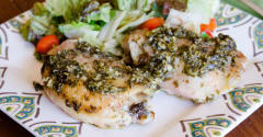 Gluten Free Dairy Free Pesto Ranch Chicken - Dump and Go Dinner