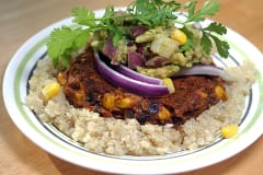 Sweet Potato Black Bean Burgers - Dump and Go Dinner