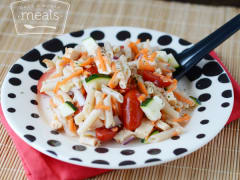 Lightened Up Italian Pasta Salad - Lunch Version