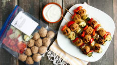 Grilled Greek Kebabs - Dump and Go Dinner