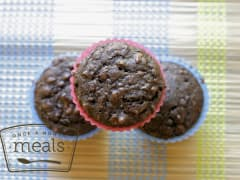 Healthier Double Chocolate Muffins