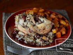 Wild Rice Stuffed Chicken Breast - Lunch