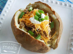 Pulled Pork Stuffed Potatoes - Lunch Version