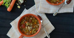 Slow Cooker Winter Minestrone - Lunch