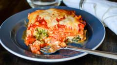 Instant Pot Cheesy Vegetarian Veggie Lasagna - Ready to Eat Dinner