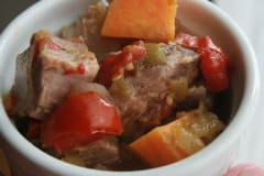 Mexican Pork Sweet Potato Stew - Lunch Version