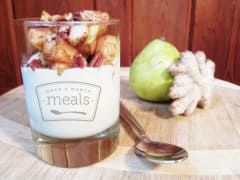 Ginger Yogurt Parfaits with Cinnamon Pears - Whole Foods Version
