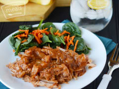 Slow Cooker Apple Barbeque Pulled Pork - Ready to Eat Dinner