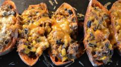 Mexican Sweet Potato Skins