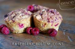 Raspberry Beet Muffins