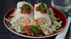 Mexican Turkey Tortilla Roll Ups - Lunch Version