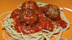 Spaghetti with Meatballs - Lunch Version