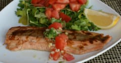 Spicy Salmon with Heirloom Tomato Salsa - Dump and Go Dinner