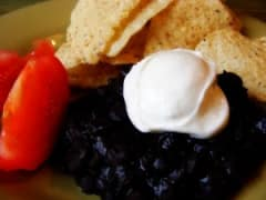 Homemade Black Refried Beans
