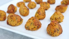 Butternut Squash, Quinoa and Goat Cheese Fritter Bites