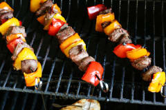 Summer Steak Kebabs - Dump and Go Dinner
