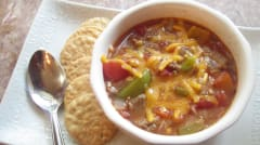 Slow Cooker Stuffed Pepper Soup - OAMM - Dump and Go Dinner