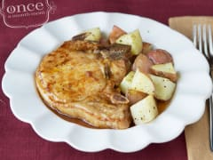 Gluten Free Dairy Free Drunken Pork Chops - Dump and Go Dinner