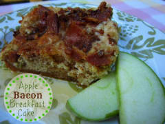 Apple Bacon Breakfast Cake