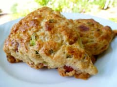 "Ham and ""Cheese"" Scones - Lunch Version"