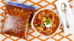 Slow Cooker Taco Soup - Vegetarian - Dump and Go Dinner