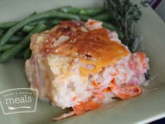 Creamy Cauliflower and Ham Casserole