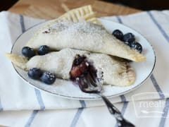 Blueberry and Peach Empanadas