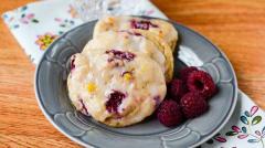 Raspberry Yogurt Breakfast Cookies