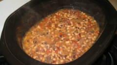 Slow Cooker Black-Eyed Peas - Dump and Go Dinner