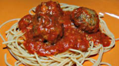 Instant Pot Spaghetti with Meatballs - Lunch