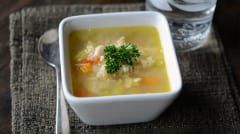 Gluten Free Dairy Free Chicken Ranch and Rice Soup - Lunch Version