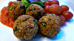 Baked Turkey and Spinach Meatballs - Lunch Version