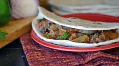 Slow Cooker Beef Burritos - Lunch