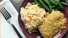 Better Than The Freezer Aisle: Tortilla Crusted Fish with Creamy Mexican Rice - Ready to Eat Dinner