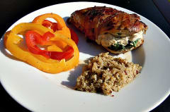Grilled Spinach Stuffed Chicken - Dump and Go Dinner