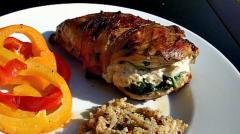 Instant Pot Spinach Stuffed Chicken