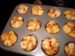 Cheesy Ham Biscuit Muffins - Lunch Version