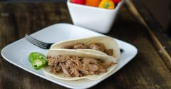 Korean Shredded Beef Tacos - Gluten Free Dairy Free Version - Dump and Go Dinner