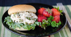 Slow Cooker Chicken Caesar Sandwich - Gluten Free Dairy Free Lunch Version
