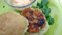 Thai Chicken Peanut Sliders - Lunch Version