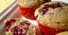 Gluten Free Dairy Free Berry Lemon Muffins