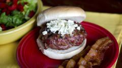 Bacon and Bleu Burgers - Dump and Go Dinner